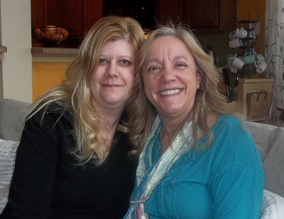 Lori Freeland and me 400x308