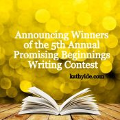 "Winner Announcements 5th Annual ""Promising Beginnings"" Writing Contest"