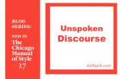 "BLOG SERIES: NEW IN CMOS-17 ""Unspoken Discourse"""