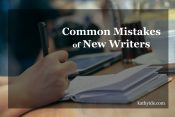 Common Mistakes of New Writers