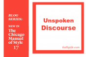 "BLOG SERIES: NEW IN CMOS-17 ""Unspoken Discourse"""